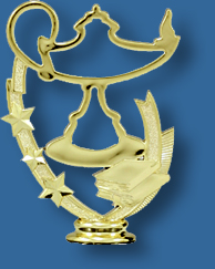 Lamp of learning school academic trophy