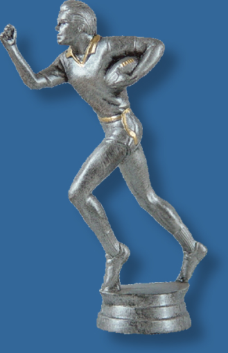 Male touch football silver/gold figure