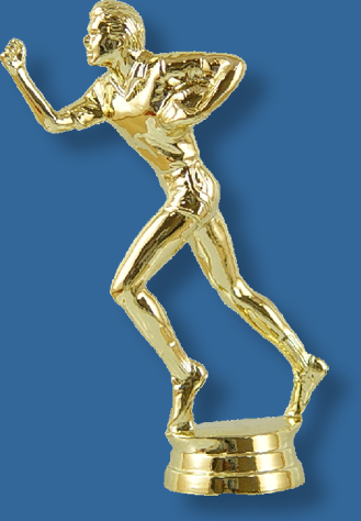 Male touch football trophy figurine
