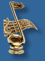 Music note figurine