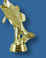 Small bass figure fishing trophy