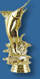 Marlin fishing trophy