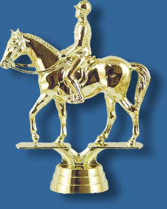 Equestrian trophy figurine