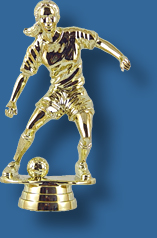 Gold female football player
