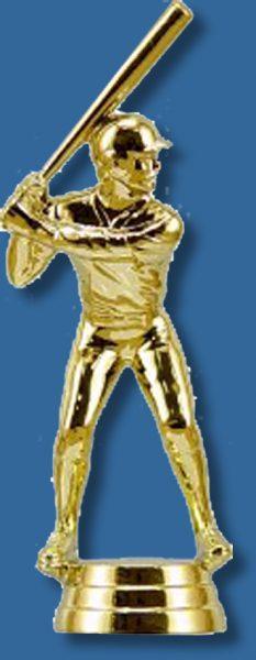 Gold baseball trophy batter