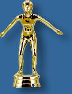 Female swimming trophy figurine