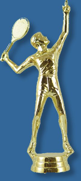 Male tennis trophy figure