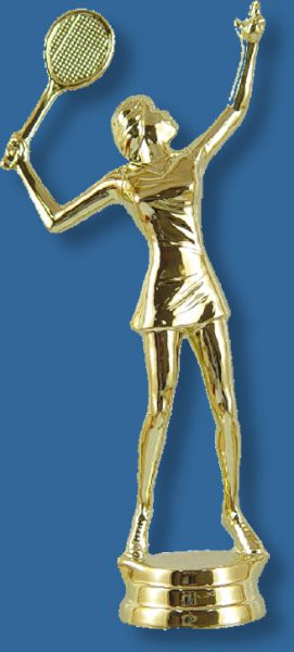 Female tennis trophy figure