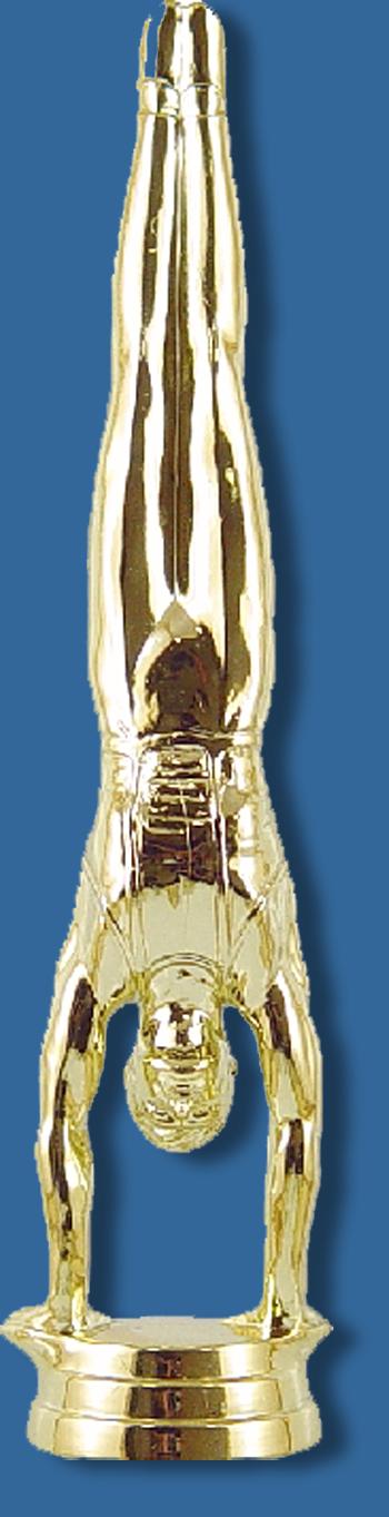 Gymnastics trophy figurine male handstand