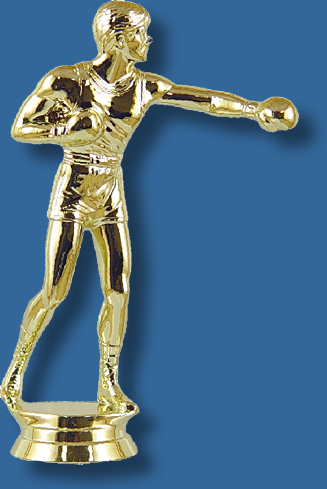 Gold boxing trophy fifurine