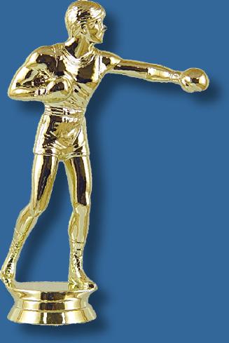 Gold boxing trophy fifurine