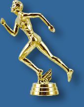 Male Athletics trophy gold figure