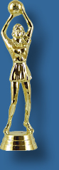 Gold netball trophy figurine