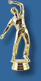 Cricket trophy figurine bowler