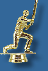 Cricket trophy figurine batter