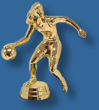 Female basketball trophy dribble