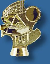 Piano music theme figurine
