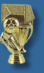 Gold football theme trophy