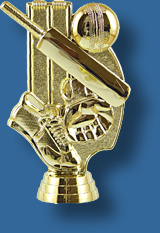 Gold cricket theme trophy