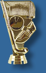 Gold hockey theme trophy