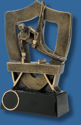 Gymnastics trophy pommel