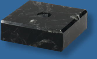 Black marble base