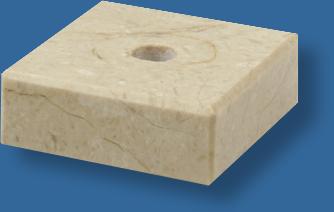 Cream marble base