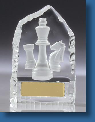 Acrylic chess trophy