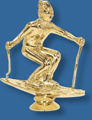 Male Skiing figurine