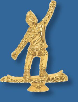 Snowboarding trophy figurine