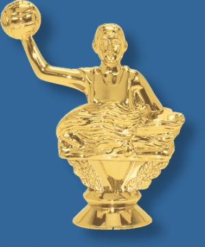 Female water polo trophy figurine