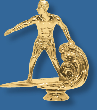 Surfing trophy figurine