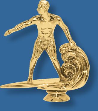 Surfing trophy figurine
