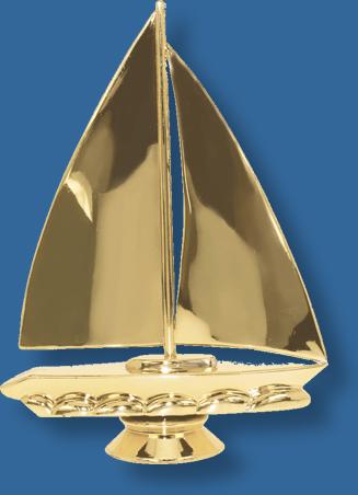Sailing skiff trophy