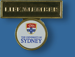 Gold plated name badge