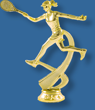 Forehand female tennis trophy