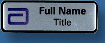 Name bar 65x25 silver/black