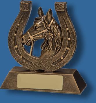 Bronze horseshoe trophy