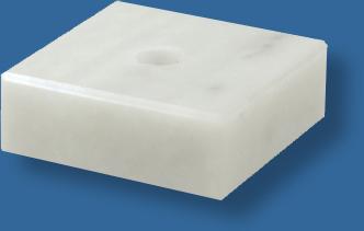White marble base