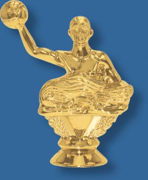 Male water polo trophy figurine