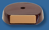 Small semi round rosewood tone timber veneer base
