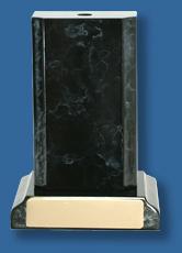 Large black marble style trophy base