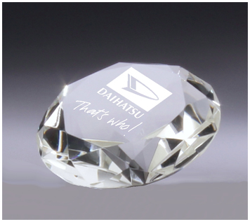 Crystal diamond corporate award