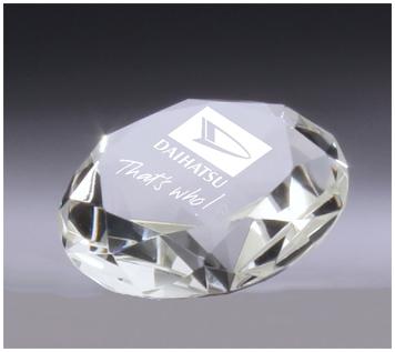 Crystal diamond corporate award