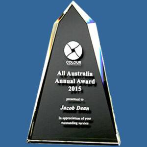 Elegant crystal summit business award