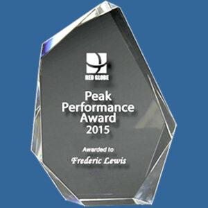 Quality crystal business award