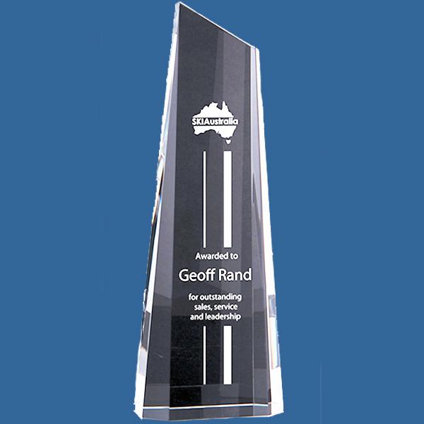 Tall crystal business award