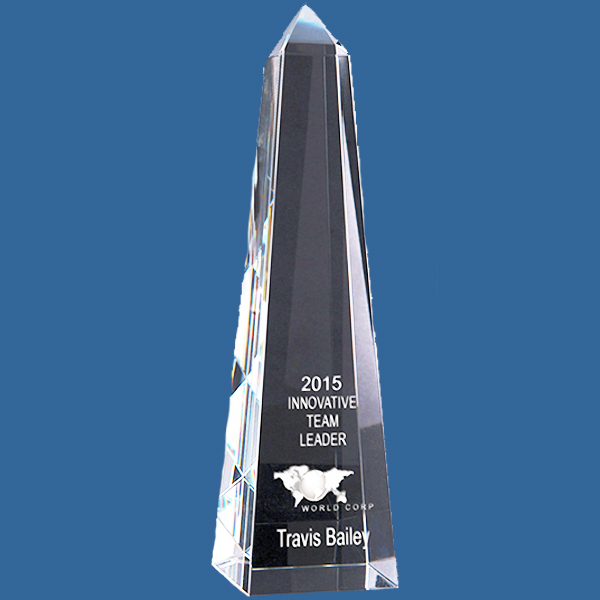 Tall crystal corporate award