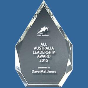Quality crystal corporate award