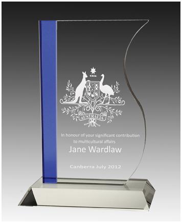 Crystal sophia trophy